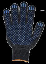 Перчатки ХБ 6 нитей, с ПВХ 7,5кл.(черные)