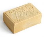 Мыло хозяйственное БЕЛОЕ без обертки 72% ГОСТ 30266-95, вес 200гр