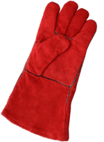 Краги спилковые пятипалые красные