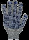 Перчатки ХБ 5 нитей, с ПВХ 7,5кл.(серые)