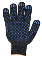 Перчатки ХБ 7 нитей, с ПВХ 7,5кл.(черные)
