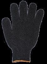 Перчатки ХБ 6 нитей, без ПВХ 7,5кл.(черные)