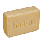 Мыло туалетное без обертки «Банное», ГОСТ 28546-2002, вес 100гр, 200гр.