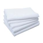 Полотенца в сложении из спанлейса цвет белый 45×90 пл.40гр/м2 20 шт/уп
