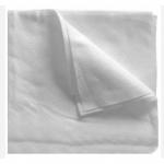 Салфетки в сложении из спанлейса цвет белый 20×20 пл.50гр/м2 100 шт/уп