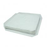Салфетки в сложении из бязя, ситца, цвет белый 40×40